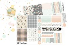 Planner Sticker Weekly Kit Muted Mod for your Erin Condren Life Planner, Plum…