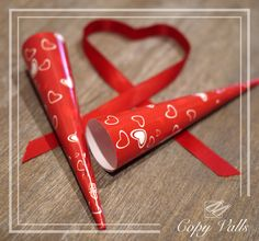 St Valentine's Day 2017. Paper cones for Especialidades Vira, Spain. (Chocolate ombrella)
