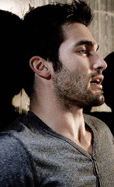 This looks like a Sterek gif.....Stiles about to give Derek a bj and Derek is worried they might get caught ;)
