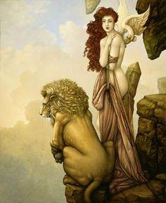 """Michael Parkes """"The Last Lion"""""""