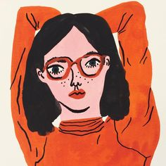 WEEK 4: bodil jane. amsterdam.eduardogouache.i really admire that this is not a realistic painting but it still evokes emotion/feeling in the viewer. i love the vermilion orange it is such a strong powerful pigment