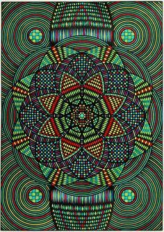 Geometric designs by Eugene Andolsek (1921 – 2008)