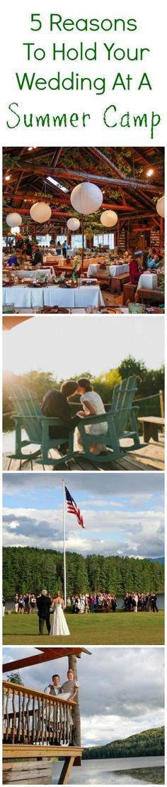 5 Great Reasons To Hold Your Wedding At A Summer Camp!