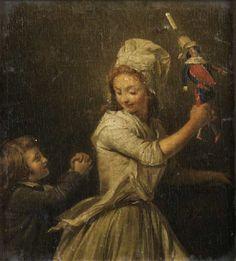 Henri-Pierre Danloux (Paris 1753 - La Poupée (The Doll). Doll Games, Victorian Paintings, Doll Painting, Henri, Hello Dolly, Antique Toys, Portrait Art, Little People, 18th Century