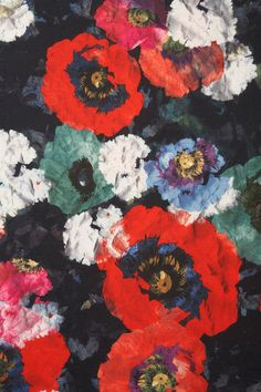 Gorgeous floral print inspiration from BLACK POPPY FLORAL ONE PIECE…