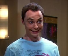 Sheldon smiling is a painful experience for everyone involved.