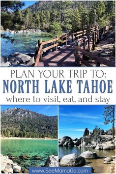 Thinking about traveling to Lake Tahoe? North Lake Tahoe is definitely​ a MUST on your travel list. This scenic town is as fun as it is pretty. Find the best places to stay, dine, shop, and visit while traveling to North Lake Tahoe Lake Tahoe Summer, Lake Tahoe Vacation, South Lake Tahoe, Florida Vacation, Lake Tahoe Lodging, Sand Harbor Lake Tahoe, Lake Tahoe Nevada, Florida Keys, Florida Beaches