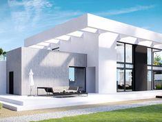Wizualizacja CPT Koncept 30 CE Beautiful House Plans, Modern House Plans, Modern House Design, Beautiful Homes, Modern Architecture House, Architecture Design, House Construction Plan, Duplex Design, 2 Storey House