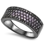 Please Take A Moment To Visit Our Store!      Item Number: RC105235-BK  Availability: Usually Ships in 5 Business Days      PRODUCT DESCRIPTION:    Crafted in sterling silver, this beautiful band features brilliant machine-cut purple cubic zirconia stones and is accented by raised edges        FEATURES:      Crafted in Fine Sterling Silver  Rhodium Plated  Brilliant Machine-Cut Purple Cubic Zirconia  Pave Set Design  Raised Edges   | Shop this product here…