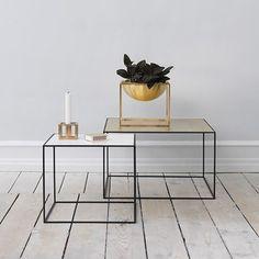 315.- by Lassen - Twin 49 Table Beistelltisch Weiß-Eiche