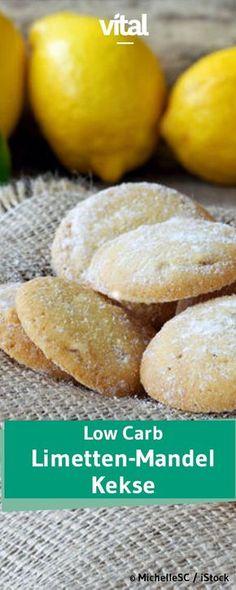 Trotz kohlenhydratarmer Ernährung etwas Süßes für zwischendurch? Wie wäre es mit diesen Low Carb Limetten-Mandel-Keksen? Besonders gut: durch die Limettenschale schmecken die Low Carb Kekse besonders frisch und lecker!
