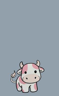 Cute strawberry cow wallpaper