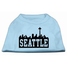 Mirage cat Products 10-Inch Seattle Skyline Screen Print Shirt for cats, Small, Baby Blue ** Want to know more, visit the site now : Cat Apparel