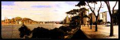 """Encontro das avenidas """"Beira Mar"""" e Avenida  Vitória. Do alto vemos o canal e o porto de Capuaba com seu movimento peculiar"""