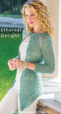 Ethereal Delight from the Spring 2014 issue of Creative Knitting Magazine. Order a digital copy here: http://www.anniescatalog.com/detail.html?code=AM11209
