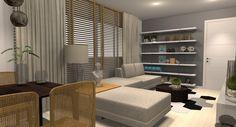 #projetosHAUS    Projeto para apartamento de aluguel fazendo uso de peças soltas para composição do ambiente. Nesta sala um sofá super aconchegante, estante de livros, mesa de jantar para 6, jardim vertical, espelhos, aparador e rack para TV. Tudo isso em aproximadamente 20M². Amamos o resultado.    #Haus #HausEngenho