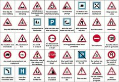 Road signs, Whoever came up with this storyline is a genius!   What must this guy have scored in his driving test !