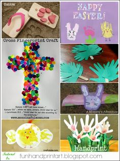 Handprint, Footprint and Finger Print Easter Crafts - Big collection here.