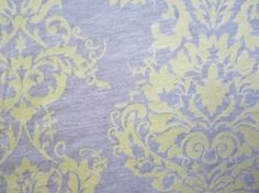 Sunny Damask Burnout Jersey Knit Fabric