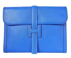 Hermes Jige Elan 29cm Mauve Glycine Clutch Bag   MALLERIES ...