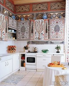 Kitchen small space design...global eclectic