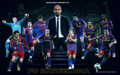 FC Barcelona Players 2010/11 wallpaper in The FC Barcelona Club