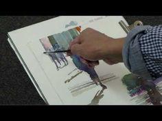 簡忠威畫室水彩示範『威尼斯風景』watercolor - YouTube
