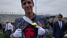 West Point condemns graduate who wore Che Guevara shirt under uniform