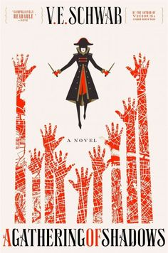 A GATHERING OF SHADOWS by V. E. Schwab -- Publish Date: 2/23/16 -- Experiencing ominous dreams four months after the events of A Darker Shade of Magic, Kell watches Red London excitedly preparing for the Element Games international magic competition only to realize that the threat of Black London is returning.