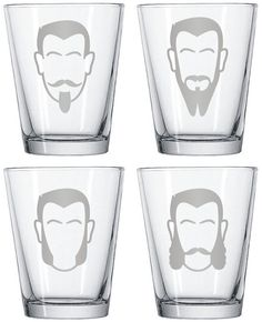 no home is complete without these facial hair shotglasses..