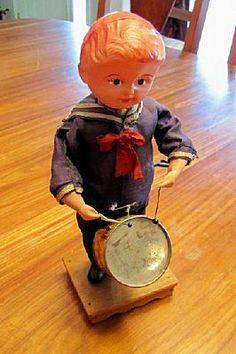 wind up antique toy