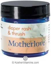Motherlove Diaper Rash & Thrush 1 OZ - An all-natural herbal salve for persistent, inflamed diaper rash. Diaper safe and compatible with all diapers including cloth