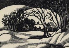 """Snow scene"" by Clare Leighton"