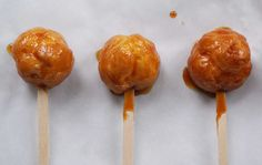 Caramel Cream Puff Pops