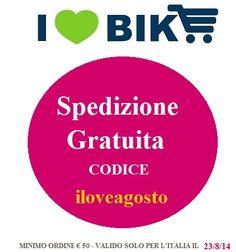 Spedizione gratuita solo per oggi 23/8/14 digita il codice iloveagosto http://www.ilovebike.it @ilovebikeshop