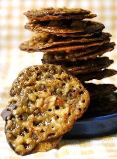 Dark Chocolate, Almond & Orange Lace Cookies (Trader Joe's Lacey Cookies)