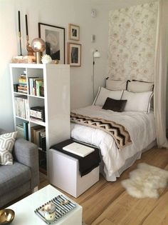 design for small bedroom space saving - design for small bedroom + design for small bedroom space saving + design for small bedroom diy + design for small bedroom ideas + design for small bedroom layout Small Apartment Decorating, Room Design, Bedroom Diy, Small Bedroom Designs, Room Inspiration, Small Room Bedroom, Modern Apartment Design, Dorm Room Decor, Bedroom Decor