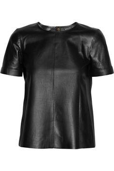 Gucci|Leather T-shirt|NET-A-PORTER.COM