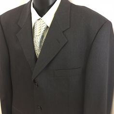 Pavone Mens Sport Coat 42R Italy 3 Button Charcoal Gray Giovanni Tonella Cloth #Pavone #ThreeButton