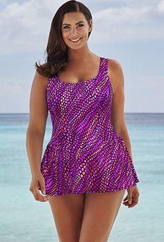 b355a4bfc6979 Swimdress - Beach Belle Mermaid Kisses Princess Seam 26-34 Swimdress Swim  Dress