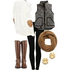 A fashion look from July 2014 featuring Glamorous sweaters, J.Crew vests и Noisy May jeans. Browse and shop related looks.