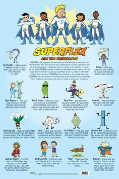 #Superflex and the #TeamThinkables who defeat each of the #Unthinkables (By comparing both posters, you can see which Thinkable defeats which Unthinkable.