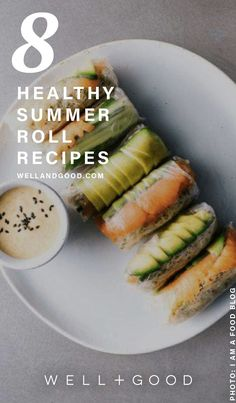Beautiful healthy summer roll recipes - New Site Healthy Summer Recipes, Healthy Snacks, Vegetarian Recipes, Healthy Eating, Cooking Recipes, Healthy Drinks, Food Truck, Summer Rolls, Spring Rolls