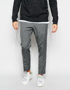 Image 1 ofASOS Slim Fit Smart Cropped Trousers