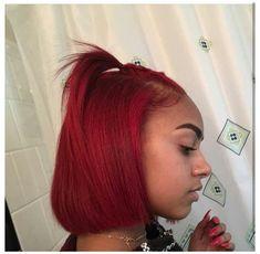Natural Red Hair, Natural Hair Styles For Black Women, Natural Beauty, Hair Dye Colors, Hair Color For Black Hair, Red Hair Looks, Bright Red Hair, Dyed Red Hair, Dye My Hair