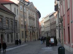 a nices old houses in Kanonicza Street Kraków, Poland