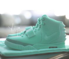 The unreleased Air Yeezy 2 Mint for Women