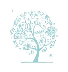 Wedding tree concept for your design vector - by Kudryashka on VectorStock®