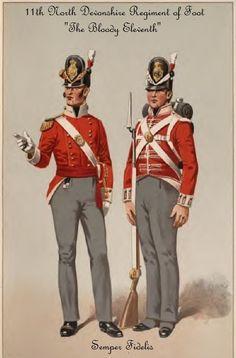 British; 11th (North Devonshire) Regiment,Battalion Company, Officer & Private, c.1812