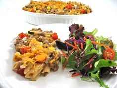 Decadently Delicious and Low Calorie, Beefy Mac and Cheese Casserole with Weight Watchers Points | Skinny Kitchen